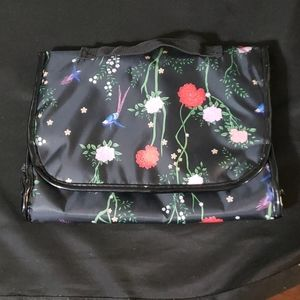 Hanging Cosmetic Bag flowers and birds